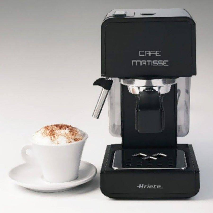 Espressor manual Ariete , 1363 Matisse Black, Dispozitiv cappuccino, 15 Bar