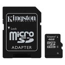 Card Kingston Micro SDHC 4GB Clasa 4 + adaptor SD SDC4/4GB