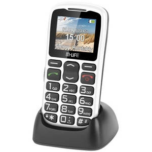 Telefon mobil M-Life ML0639B Senior Dock White