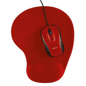 Mouse Trust Primo cu Mouse Pad Red