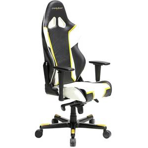Scaun gaming DXRacer OH/RT110/NWY Racing Black / White / Yellow