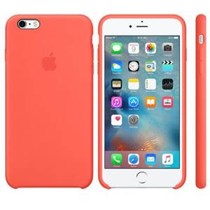 Husa Protectie Spate Apple iPhone 6s Plus Silicone Case - Apricot