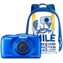 Coolpix W100 13.2 Mpx zoom optic 3x subacvatic Backpack Kit Blue