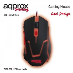 Mouse gaming Approx Twister 2 Black