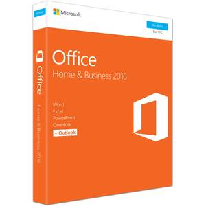 Microsoft Office Home and Business 2016 32/64-bit English EuroZone Medialess P2