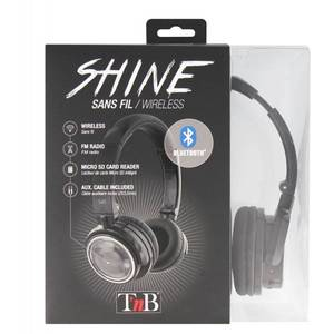 Casti Bluetooth TnB Shine Black