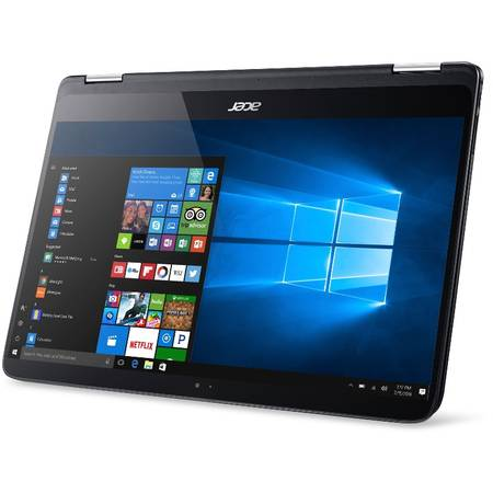Laptop Acer Spin SP714-51 14 inch Full HD Touch Intel Core i7-7Y75 8GB DDR4 256GB SSD Windows 10 Pro Black