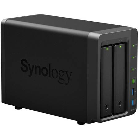 NAS Synology DS716+II Intel Celeron N3160 1.6 GHz 2 GB 2 Bay 3 x USB
